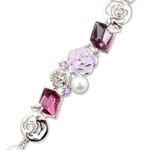 Picture of Flower bracelet with Swarovski Element