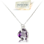 Picture of Violet loveheart  pendant with Swarovski Element