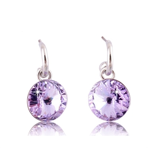 Picture of Lavender Drop Pierced Earrings
