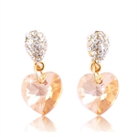 Picture of Love heart drop earrings