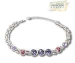 Picture of Mulitcolour Rosette bracelet with Swarovski Element
