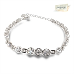Picture of Clear Rosette bracelet with Swarovski Element