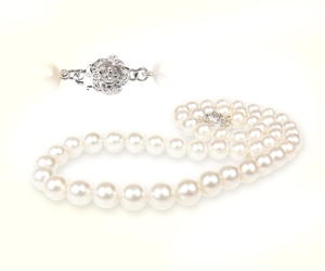 Picture of Classic white freshwater pearls necklace
