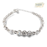 Picture of Rosette bracelet with Swarovski Element
