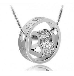 Picture of Swarovski Elements Crystal Heart Pendant - S
