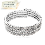 Picture of 4 Row Tennis bracelet with Swarovski Elements