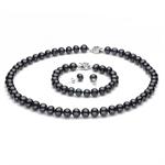 Picture of Black Semi Baroque Pearl Tri Set - S