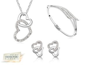 Picture of Crystal Love Heart Tri Set