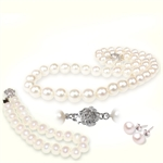 Picture of Whit or black Freshwater Pearls Tri Set