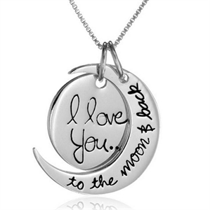 Picture of I love you to the moon & back necklace
