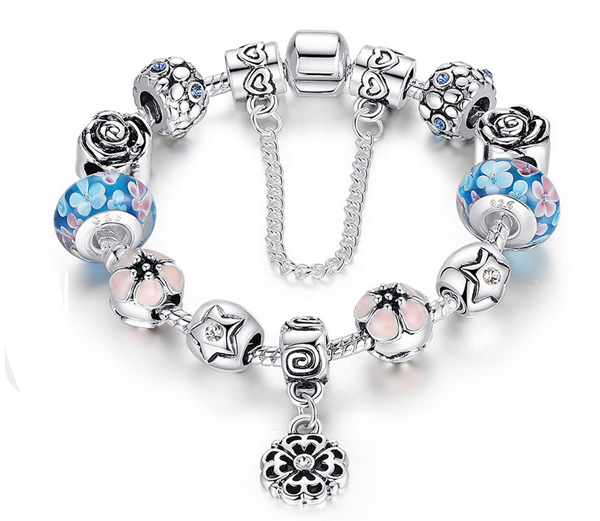 Athenafashion 925 Sterling Silver Plated Crystal Pandora